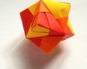 Origami Sturdy Ball: Red, Orange, and Yellow