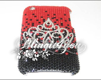 Rhinestone Shiny Bling Diamond Princess Crown Tiara Case Cover for iPhone 5 6 6S 7 plus Handmade w/ 100% SS 12 Swarovski Crystal Elements