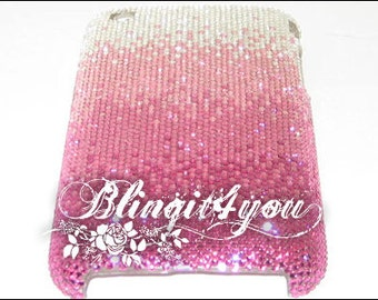 Rhinestone Diamond Bling Pink Lover Back Case Cover for iPhone 5 SE 6 6S 7  7 Plus Handmade with SS5 Tiny 100% Swarovski Crystal Elements
