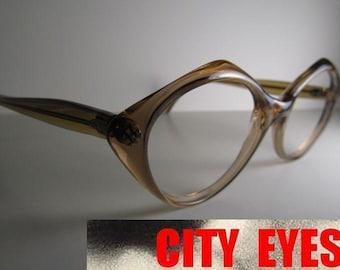 1970s Modern CatEye optical frames Eyeglasses Sunglasses sun eye glasses eyeglass vintage cateyes hollywood regency mid century cat eyes
