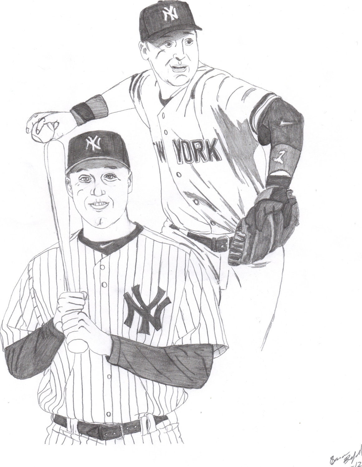 Yankees coloring pages printable