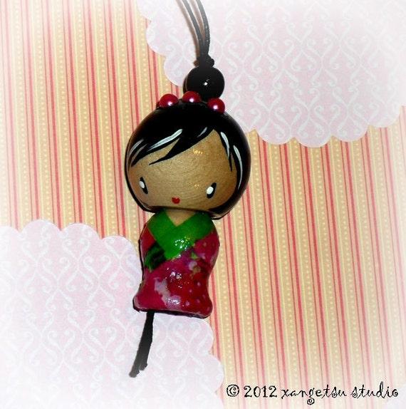 kokeshi doll Japanese doll ornament charm - chouko
