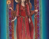 Hecate Goddess of the Crossroads ACEO Miniature Altar Art