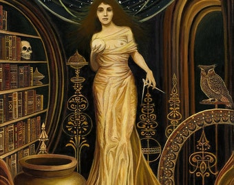 Urania The Muse of Astronomy and Philosophy 20x24 Poster Fine Art Print Pagan Mythology Goddess Art