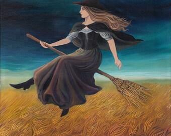 Barley Witch 8x10 Print Pagan Mythology Samhain Goddess Art