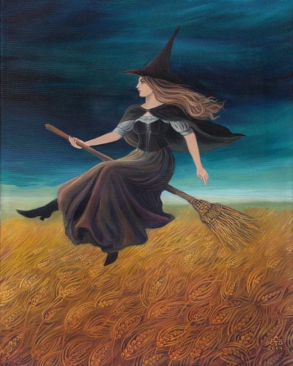 Barley Witch Pagan Art Goddess Art 8x10 Print Halloween Art