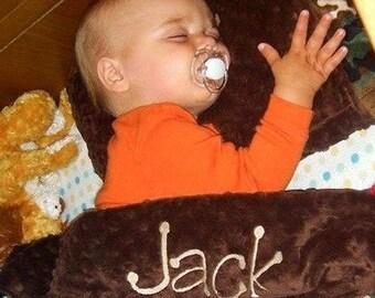 Personalized Baby Boy Blanket ,  Minky Baby Blanket , You Design