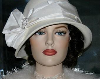 Downton Abbey Hat Edwardian Wedding Hat Kentucky Derby Ascot Hat Flapper Gatsby Hat Roaring Twenties - Lady Josephine