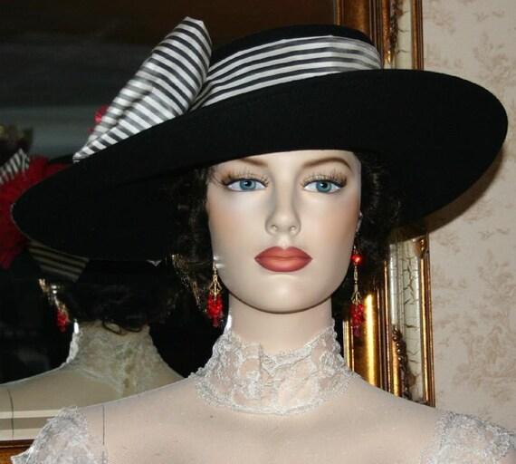 Edwardian Style Hats, Titanic Hats, Derby Hats Edwardian Hat Downton Abbey Hat Titanic Hat Tea Party Hat Lady Olivia