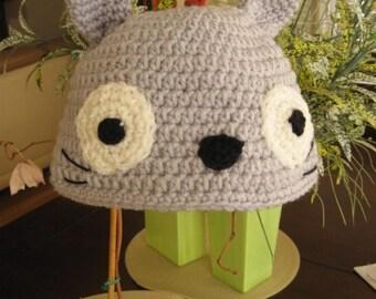 Gray Totoro Hat Beanie Crochet