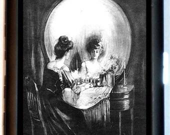 Skull Illusion Cigarette Case All is Vanity Anamorphic Business Card Case Wallet Retro Art Nouveau