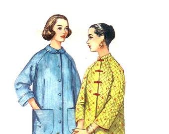 60s Robe Pattern or Bed Jacket vintage 34-26-36 SALE madmen quilted bathrobe
