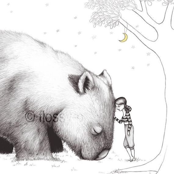 Giant Wombat, Art Mini-Print