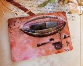 Postcard - Tessie la Tisseuse, back home