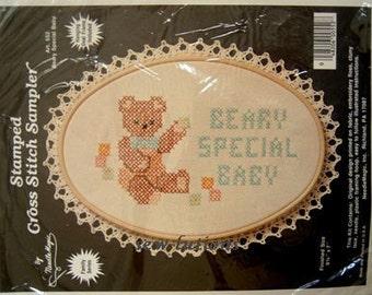 BABY SAMPLER Cross Stitch Kit - Teddy Bear Beary Special Baby's X-Stitch Sealed