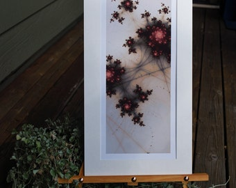 Dusty Rose, Matted Fractal Print
