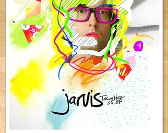 Jarvis Cocker Poster - Large illustration art