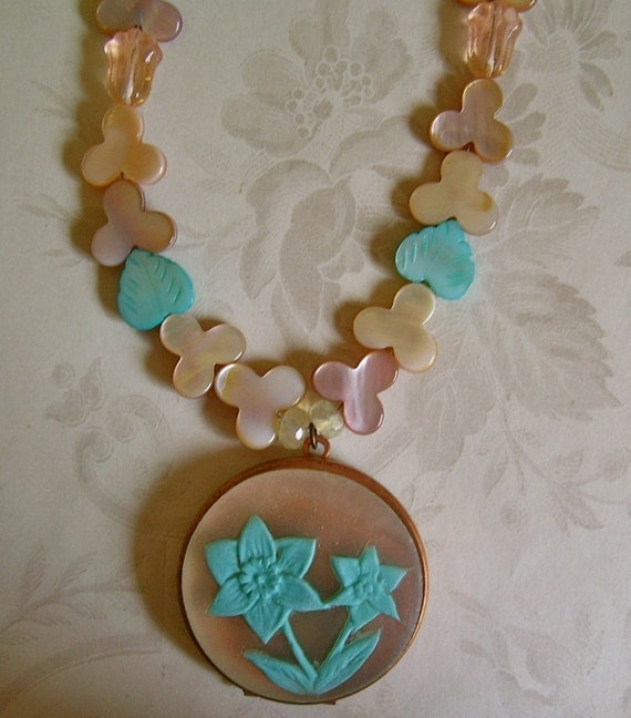 Necklace - Turquoise Jonquil Locket