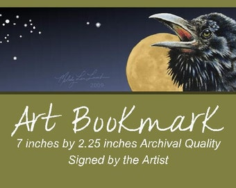 Raven Bookmark from Original Art by Melody Lea Lamb