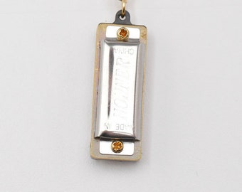 Miniature Harmonica Charm Necklace That Actually Works
