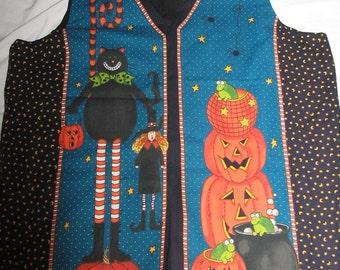 Halloween Vest with Pumpkins   #F/H-130