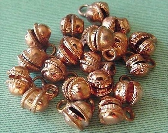 "Copper Bells Little Round Charms 1/2"" lot of 18"