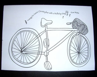 Old Bicycle Postcard