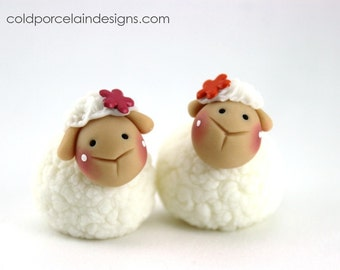 QTY 5 - Little Lamb Baby Sheep party favors custom made