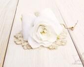 4th Wedding Anniversary Flower in Ivory Linen