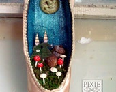 Fairyland Moon Shrine in an upcycled/recycled pointe Ballet Slipper