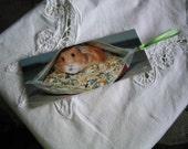 pigging out -- laminated bookmark