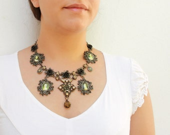 Art History Necklace and Earrings Victorian Gothic Portrait