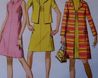 Vintage 1960's  Misses Coat, Jacket and Dress - Simplicity 7482 Pattern