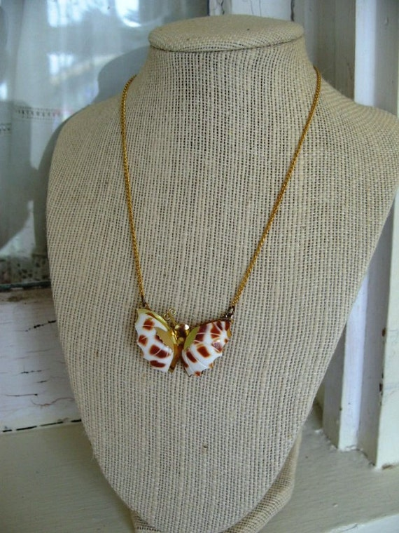 FREE SHIPPING Vintage Butterfly Necklace