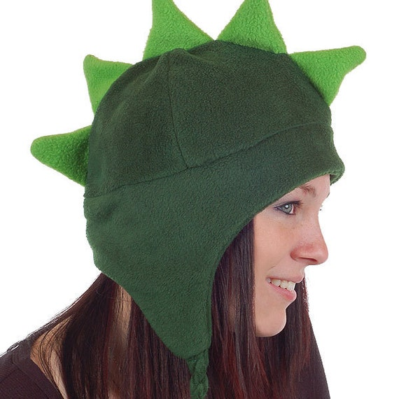 Animal Hat Pattern for adults - Earflap and Chinstrap - Dinosaur, Cat, more