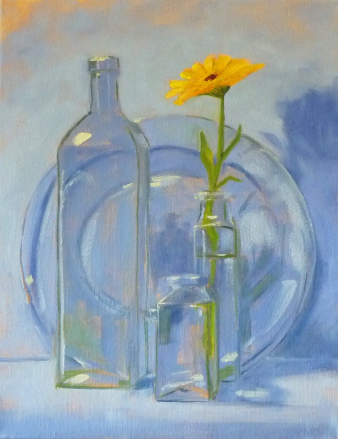 Painting A Clear Glass Still Life
