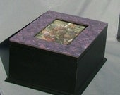 The Many Faces of Purple - Mosaic Keepsake Photo Box