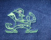 Mascot Fleece Blanket High School / College Sports Graduation Embroidered Blanket for your Fan