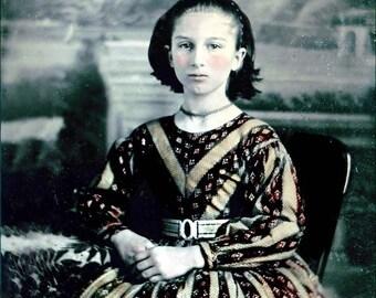 Beauty Teen Queen Tintype Photo Card