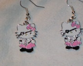 pink pirate hello kitty earrings