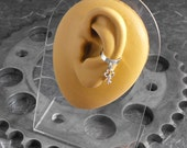 Steampunk Key Ear Cuff Silver - The Key to Your Universe by COGnitive Creations
