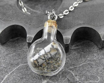 Letter In a Bottle Necklace - Small Timeless Letter In a Bottle by COGnitive Creations