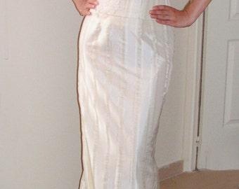 SALE evening wedding dress Italian taffeta size 8 M