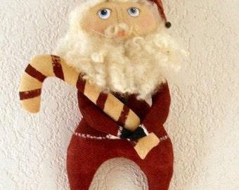 Primitive Christmas Santa Claus Ornament  E Pattern PDF  Instant Download Sewing Pattern