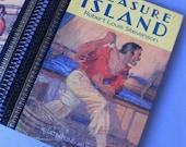 Vintage Book Journal, Sketchbook: Treasure Island