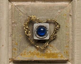Blue Serenade - Heart Art - Love Art - Mixed Media  Vintage Wood  Collage - Celebratory - Romantic  Keepsake -  Love -  Valentine - Wall Art