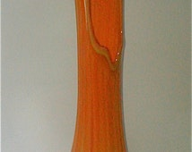 Huge Orange  22 inch  Swung Glass Vase of Bittersweet  Perfection - Imperial Glass Centerpiece Vase
