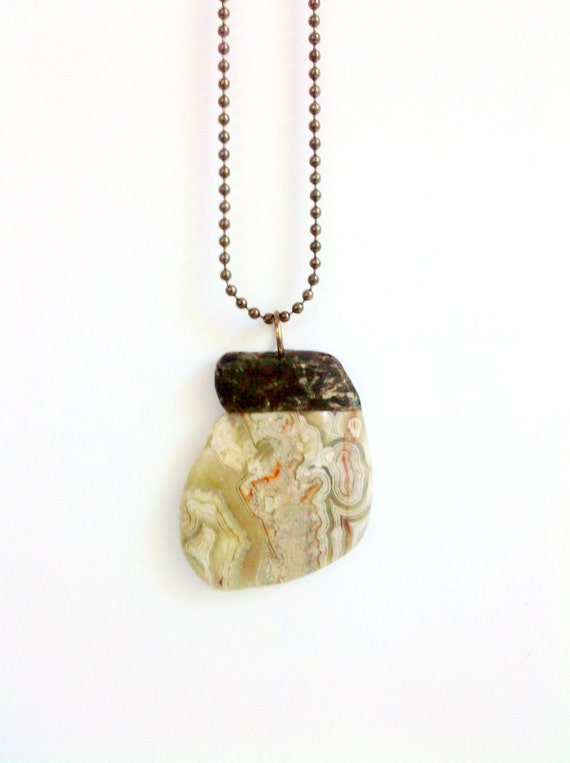 Agate Necklace Crazy Lace