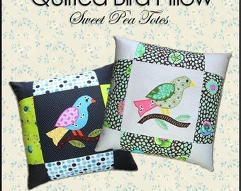Bird Pillow Sewing Pattern PDF