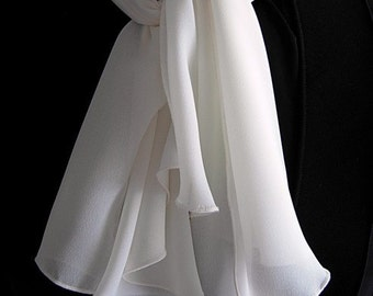 Ivory Georgette Ascot by Kambriel - Brand New & Ready to Ship!